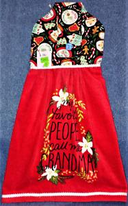 **NEW** Handmade 'My Favorite People..Grandma!' Hanging Kitchen Hand Towel #2482