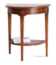 Console demi lune classique, console en bois massif, ameublement pour le salon