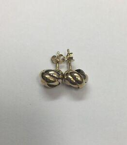 18k Gold Knot Earrings