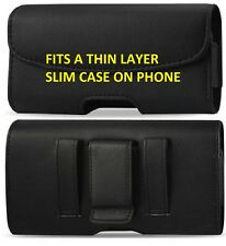 LEATHER BELT CLIP HOLSTER HOLDER POUCH CASE COVER FOR ALL SMARTPHONE CELL PHONE