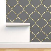 Peel-and-Stick Removable Wallpaper Quatrefoil Modern Decor Ogee Geometric Yellow