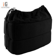 SLR Portable Camera Inner Partition Padded Protector Case Bag black