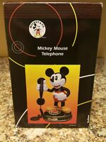 Vintage Disney Telemania Mickey Mouse 1997 Animated Talking Telephone - New