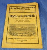 """Gedichte und Geschichten in erzgebirgischer Mundart """"Röckele und Zwiebäckle""""35.B"""