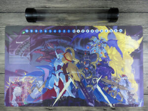 Digimon Monsters Card Game Playmat With Card Zones DTCG Play Mat Free Best Tube
