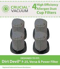 4 Dirt Devil F25 Stick Vacuum Filters F-25 Versa Power 2SV1102000 3SV0980000