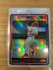 New listing 2005 ALBERT PUJOLS Topps Baseball Chrome Refractor #100 St Louis Cardinals