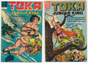 Lot 2 Dell Comics Toka Jungle King Issue #4 & #9 Silver Age Comic Book 3.5 - 4.5