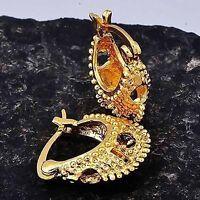 18k GP Gold Filled Womens Caterpillar Hoop Earrings Earings Fashion