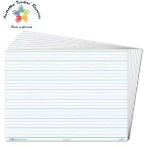 Lesson Boards Dotted 3rds – 5 pieces Write and Wipe Primary Teaching Resource
