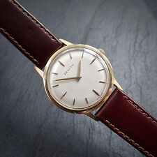 Zenith 18ct Solid Gold Slim Time Only Calatrava Style Cal 2310 Circa 1977 Watch