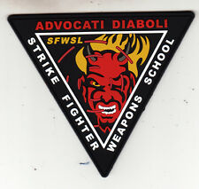 STRIKE FIGHTER WEAPONS SCHOOL PVC (SOFT RUBBER) COMMAND CHEST PATCH