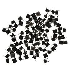 100Pcs 6x6x4.5mm Panel PCB Momentary Tactile Tact Push Button Switch 4Pin AD