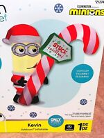 New 7' MINION KEVIN LICKING CANDYCANE AIRBLOWN INFLATABLE Lights Gemmy Christmas