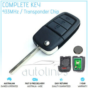 Fits HOLDEN VE COMMODORE 2006-2013 3 Button Remote Chip Complete Flip Key FOB
