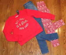 Abercrombie A & F Kids Sz 13/14 Slim Jeans Lot  New Red Sweatshirt Leggings