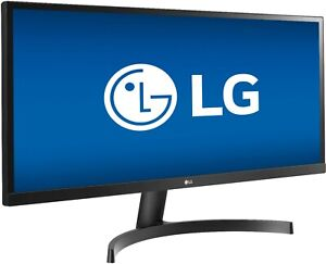"LG 34"" IPS LED UltraWide FHD FreeSync Monitor *SEE PHOTOS OF SCRATCH* 34WL500-B"