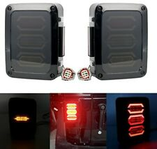 Smoked LED Tail Lights Jeep Wrangler Reverse/Real Back Up/Turn Signal Lights