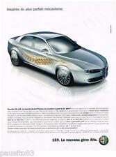 PUBLICITE ADVERTISING 095  2005  ALFA ROMEO la BERLINE 159 PREMIUM