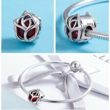 Bracelet charm - enchanted rose design- Jewellery Charms Not Pandora