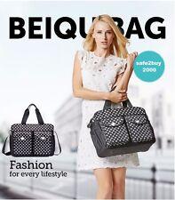 3pcs Nappy Changing Bag Set Diaper Bag Set Fashion Shoulder Bag Dot 06 BLACK