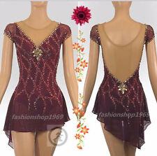 Ice Figure Skating Dress Baton Twirling Dance Dress Custom Competition xx878