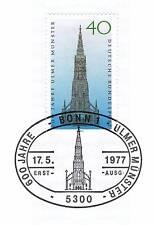 BRD 1977: Ulmer Münster Nr. 937 mit dem Bonner Ersttags-Sonderstempel! 1A! 153