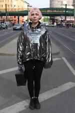 ULTRA PINK Pullover Jacke Silber Lurex sweater silver True Vintage 90s Rave
