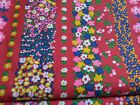fabric mid century BOLD BRIGHT FLORAL  JOHN WOLF TEXTILES  60's  5 yards  x 44'