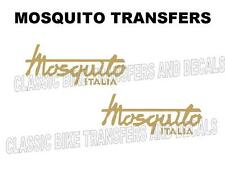 Mosquito Tank Transfers Decals Stickers Motorcycle Moto Garelli Gold