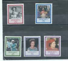 Vanuatu stamps. 1987 40th Royal Wedding Anniversary set MNH (J489)