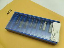3489) Valentine Vdb-312-B-015 Vc2 Cutting Inserts 9 Pcs Lathe Machinist Tool