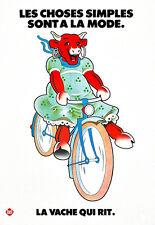Cuisine Food Cafe la vache qui rit laughing cow Fromage Vélo Poster Print