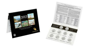 2013 P and D America the Beautiful Quarters Uncirculated US Mint 10 Coin ATB Set