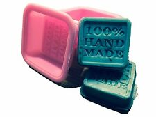 6-Pack Soap Molds - 100% Handmade Square Silicon - Sapone