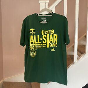 Adidas MLS All Star T Shirt Size Large Designer Casual Retro Vintage Football