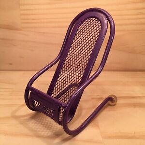 "DECK CHAIR ""Purple"" Novelty Shaped Teddy Bear Chair Mini Toy Holder Display"