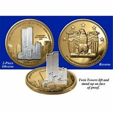 RARE 2001 WORLD TRADE CENTER TWIN TOWERS COMMEMORATIVE PROOF COIN SET