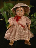 American Character Doll Sleepy Eyes Molded Hair & Wig Stuffed Body Era ? AS IS