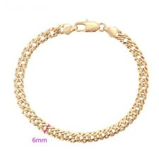 Mens 9K 9ct Yellow Gold Filled Byzantine Bracelet Chain Jewellery Gift L= 8.7""