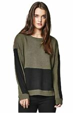 Hurley Womens Pullover Sweater Green Black Medium