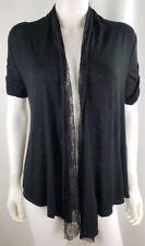 02a2b1794f65d iZ Byer Womens Shrug Black Lace Ruffle Carigan Blouse Top Shirt Size S 4  NWOT