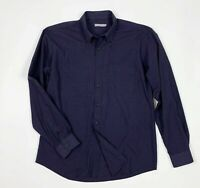 Joyful camicia uomo usato XXL quadri viola man shirt used manica lunga T5753