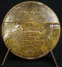 Médaille d'amour être deux pour être heureux Mosaïque de Ravenne 1976 love medal