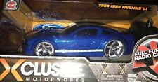 Xclusive Motorworks 2009 FORD MUSTANG Blue White GT Remote Radio Control RC Car