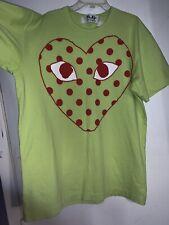 Play Comme des Garcons Polka Dot Heart T-Shirt (Green)