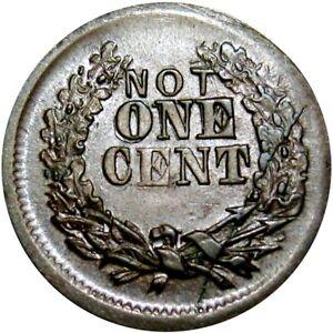 1863 Not One Cent Die Crack Mint Error Patriotic Civil War Token