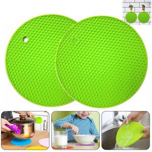 Silicone Pot Holder Trivet Mat Hot Pads Non-Slip Table Heat Resistant Potholder