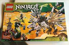 1x Lego Dragons Head ninjago Pine Grey Black Dragon 9450 6006408 93072pb04