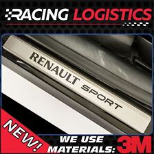 Renault Clio MK4 MK3 MK2 Limited Brushed Aluminim DOOR SILL Protector Stickers